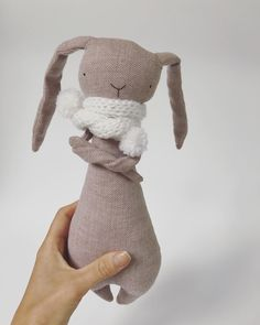 And another bunny #Etsy #etsystore #etsykids #bunnyrabbit #cuddly #forkids #nursery #cute #cuddlytoy #recycled #upcycled