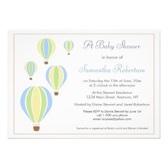 Balloon Baby Shower Invitation