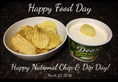 We HEART French onion dip!  Happy National Chip & Dip Day!  March 23, 2016
