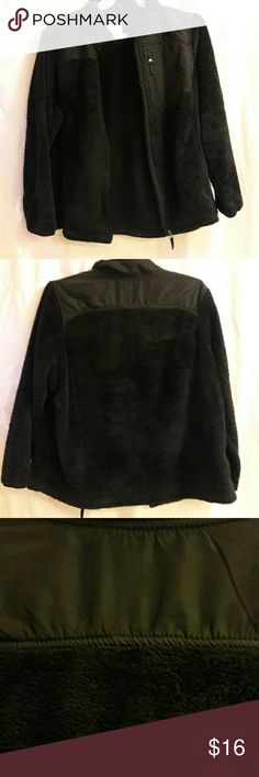 Faded Glory soft, warm jacket Black zippered Jacket with 2 side pockets, and left chest pocket. Gently used about a handful of times. 2 xl 18w - 20w 100% polyester Faded Glory Jackets & Coats
