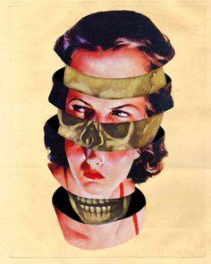 Arte Horror, Horror Art, Collages, Art Pulp, Art Grunge, Rocknroll, Pop Art, Art Du Collage, Mannequin Art