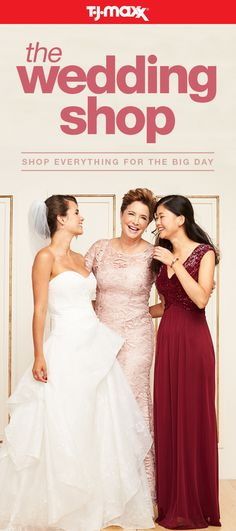 Whether you're the MOH, proud mom, or the bride-to-be, T.J.Maxx and tjmaxx.com has everything you need to nail your wedding day wardrobe—at prices you'll fall in love with. From wedding gowns to simply chic party dresses, discover The Wedding Shop at tjmaxx.com and at your local T.J.Maxx.
