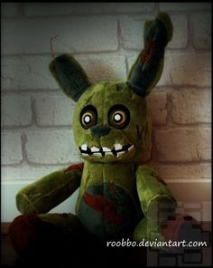 """ ...these characters hold a special place in the hearts of children, and we need to show them a little respect, right? "" I want to present you Springtrap from Five Nights At Freddy's I've been passionate about plush toys all of my life and I wanted bring them to life. Description Spr..."