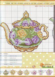 Solo Patrones Punto Cruz 2/3 Teapot Collection 2