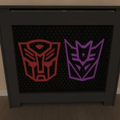 Transformers inspired themed radiator covers available painted or unpainted - purchase unpainted and let your children help you paint - Add your own personal touch www.bdichildrensfurniture.co.uk