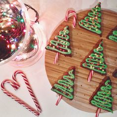 "Christmas Tree Brownies. Followed Zoë's (Zoella) recipe from her ""Festive Treats"" YouTube video."