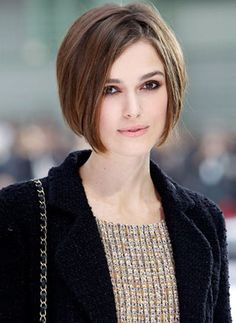 Keira Knightley Bob Hair Style #hairdesign - Find more hair design at Stylendesigns.com!