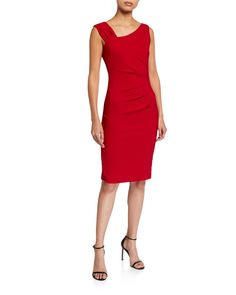 Laundry By Shelli Segal Asymmetric Stretch Double Weave Dress Fit Flare Dress, Fit And Flare, Next Fashion, Signature Look, Laundry By Shelli Segal, Dresses For Work, Formal Dresses, Dress Outfits, Feminine