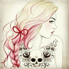 Pretty drawing- I love that hair. Will have to draw this.