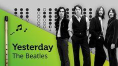 Yesterday (The Beatles) on Tin Whistle D + tabs tutorial