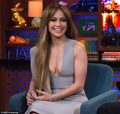 Gorgeous in grey:Jennifer Lopez ensured her phenomenal figure would be on full display as she filmed Watch What Happens Live with Andy Cohen on Monday