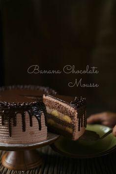 BANANA Mousse de Chocolate cake