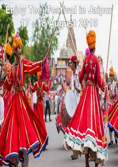 Enjoy the Teej Festival in Jaipur with Ganesham Tours & Travels India Pvt. Ltd.  The festival of Teej is dedicated to Lord Shiva and Parvati. Teej festival falls in the monsoon months of July-August. On this occasion, married women pray to Lord Shiva and Parvati to bless them with happy and long married life
