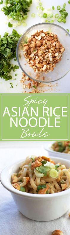 Spicy Asian Rice Noodle Bowls | A slurp-tactic rice noodle bowl with ...
