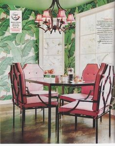 Marvelous Martinique Banana Leaf Wallpaper vs. the Thrill of Brazillance, by Dorothy Draper- The Glam Pad