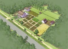 Illustrated Comprehensive Plan: Self-sufficient one-acre Homestead | TPUDC | Town Planning & Urban Design Collaborative
