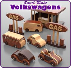 Small World Volkswagens Wood Toy Plan Set