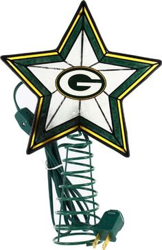 Amazon.com: Green Bay Packers Art Glass Tree Topper: Sports & Outdoors Christmas Tree Toppers, Christmas Decorations, Christmas Gifts, Xmas, Christmas Ornaments, Green Bay Packers Logo, Packers Football, Packers Baby, Sport Craft