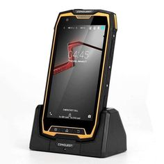 Conquest S9 Rugged Smartphone Android OS IP68 Octa Core CPU 5.5 Inch Display 2GB RAM OTG NFC Yellow