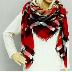 HP Tartan Blanket Scarf 100% Acrylic Accessories Scarves & Wraps