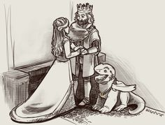King Richard marries Roberta, with a growing Tad Cooper acting as a ring bearer (which might not be the best decision given dragons hoarding tendencies).
