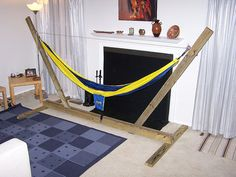 DIY Hammock Stand ~ if you aren't lucky enough to have two trees planted in exactly the right places, here ya go!