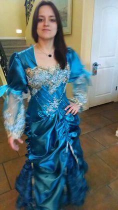 Olivia in blue