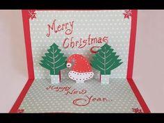 DIY Paper Craft :How to Make an Easy Handmade Christmas Pop up Greeting Card - christmas diy Pop Up Christmas Cards, Christmas Pops, Merry Christmas, Christmas Greeting Cards, Handmade Christmas, Kids Christmas, Homemade Greeting Cards, Greeting Cards Handmade, Diy Paper
