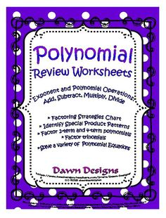 Factoring and polynomials
