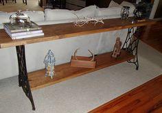 New Again: Singer Sewing Machine Sofa Table
