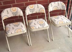 Upholstered Folding Chairs Makeover