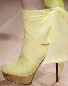 pale yellow shoes
