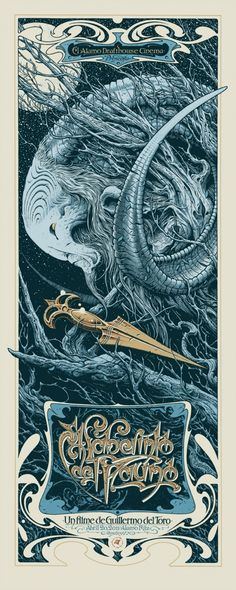 """""""Pan's Labyrinth"""" (2006) - movie poster - Aaron Horkey"""