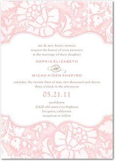 Watercolour florals Wedding Paper Divas wedding invitations I