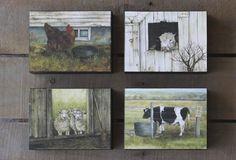 Barn Animal Print Blocks, Set of 4