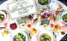 furbish thanksgiving table #thanksgiving #colorfultable #hostess