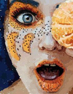 Puntillismo / Estrellado Halloween Face Makeup, Slammed, Pointillism