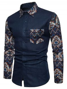 Mexican Print Linen Casual Fashion Long Sleeve Spread Collar Shirt For Men is hot sale at NewChic, Buy best Mexican Print Linen Casual Fashion Long Sleeve Spread Collar Shirt For Men here now! African Shirts For Men, African Dresses Men, African Clothing For Men, African Wear, Male African Attire, African Style, Nigerian Men Fashion, African Men Fashion, Womens Fashion