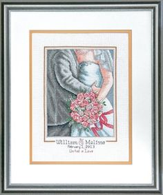 Embrace Wedding Record Counted Cross Stitch Kit