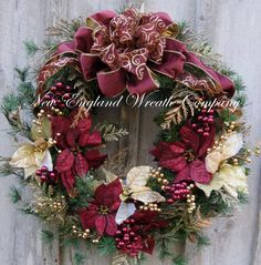 Manchester Victorian Christmas Wreath by NewEnglandWreath.