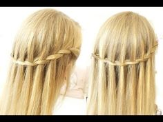 Tuto coiffure // Waterfall braids - Tresse cascade (facile + rapide) Français - YouTube