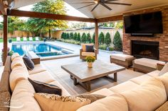 If you are looking for Pool Outdoor Kitchen, You come to the right place. Here are the Pool Outdoor Kitchen. This post about Pool Outdoor Kitchen was posted under the. Backyard Patio Designs, Backyard Pool Landscaping, Patio Ideas With Pool, Pool And Patio, Backyard With Hot Tub, Lanai Ideas, Backyard Covered Patios, Pool Porch, Backyard Plan
