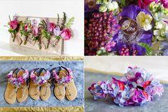 Pink and purple wedding flowers