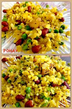 Pohay is an Indian snack, made of processed flattened rice, roasted with chillies, onions, mustard and cumin seeds and curry leaves. Indian Snacks, Indian Food Recipes, Vegan Recipes, Curry Leaves, Vegan Breakfast, Street Food, Onions, Mustard, Roast
