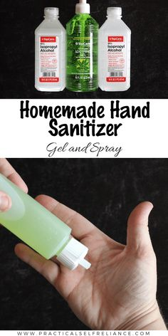Homemade Hand Sanitizer (Gel or Spray) ~ Learn how to make your own hand sanitizer at home, as a gel or spray. hand sanitizer with alcohol Homemade Hand Sanitizer Gel (and Spray) Cleaning Solutions, Cleaning Hacks, Homemade Cleaning Supplies, Cleaning Recipes, Natural Hand Sanitizer, Home Made Hand Sanitizer, Disinfectant Spray, Natural Cleaning Products, Home Design