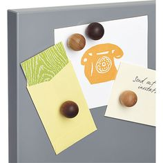 set of four wood magnets  | CB2