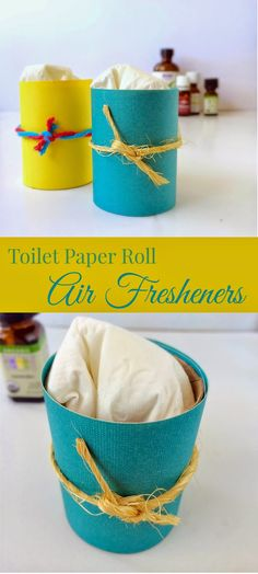Twitchetts: Toilet Paper Roll Air Fresheners.  Super Easy diy.  Recycle TP rolls.  Add any essential oil you want!