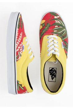 Vans Era Shoes - (Van Doren) Hawaiian/Red $55.00 #vans #vandoren #hawaiian