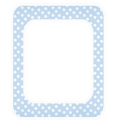 white border png | ... Elements: Free Baby Blue Polka Digi Scrapbook Frame with White Border