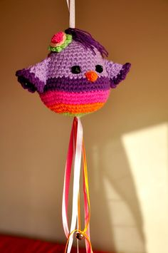 Chica outlet & DIY: Pajarito lila - free pattern
